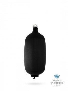 Pare-battage cylindrique C73 en textile noir FENDERTEX®