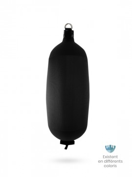 Pare-battage cylindrique C124 en textile noir FENDERTEX®