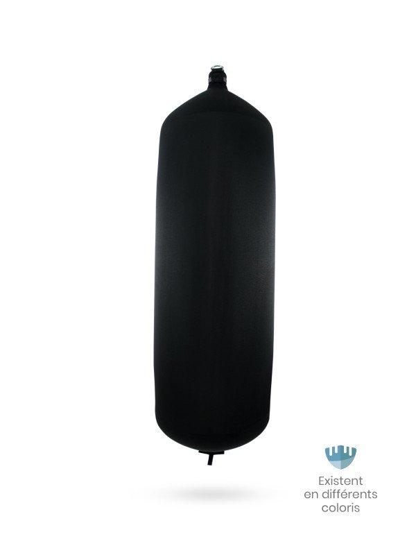 Pare-battage cylindrique C207 en textile noir FENDERTEX®
