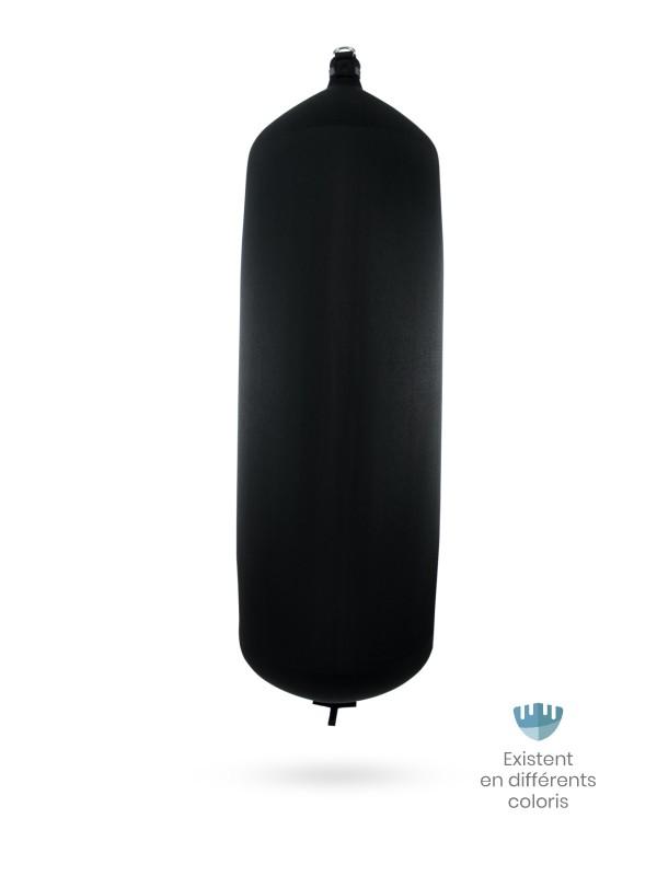 Pare-battage cylindrique C248 en textile noir FENDERTEX®