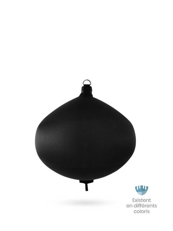 Black textile spherical fender S60 FENDERTEX®