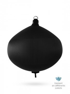 Black textile spherical fender S100 FENDERTEX®