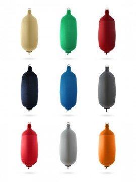 Pare-battage cylindrique C84 en textile noir FENDERTEX®