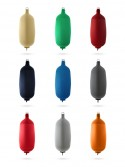 Cylindrical fenders in textile C73 of different colors FENDERTEX®