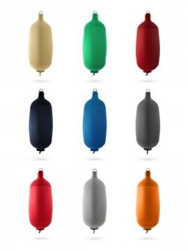 Pare-battage cylindrique C104 en textile noir FENDERTEX®