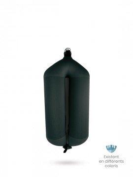 Pare-battage tubulaire T73 en textile noir FENDERTEX®