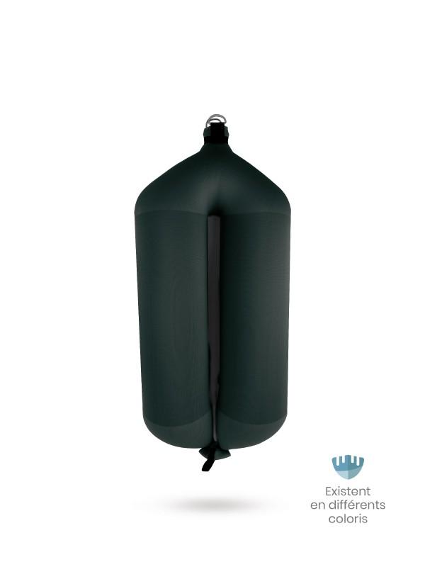 Black textile tubular fender T104 FENDERTEX®
