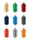 Tubular fenders T124 in textile of different colors FENDERTEX®