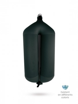 Black textile tubular fender T124 FENDERTEX®