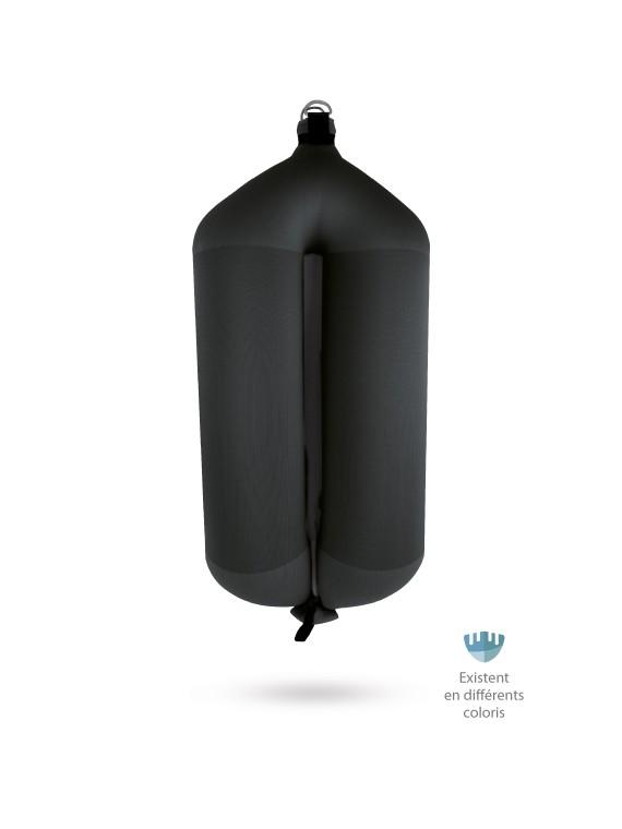 Pare-battage tubulaire T207 en textile noir FENDERTEX®