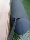 Protège bouts | Amarres en situation sur le cordage d'un pare battage Fendertex®