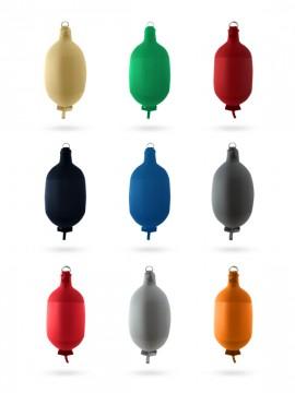 Pare-battage cylindrique C52 en textile noir FENDERTEX®